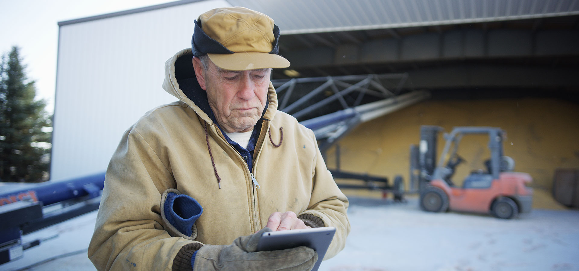 Farmer on iPad